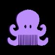 octopus.stl Télécharger fichier STL gratuit Fantasy combs ocean - Peignes fantaisie océan • Plan pour imprimante 3D, Julien_DaCosta
