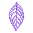 LeafB.stl Download free STL file   leaves earrings • 3D print object, LordTailor