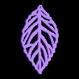 LeafA.stl Download free STL file   leaves earrings • 3D print object, LordTailor