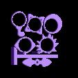 """pimoroni_wheel_snowchain_toys.stl Télécharger fichier STL gratuit Pimoroni Flotilla wheel """"snowchain"""" toys • Design imprimable en 3D, squiqui"""