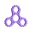 """Hand Spinner Melanie.stl Download STL file Hand Spinner Model """"Mélanie"""" • 3D printing object, Rias3d"""
