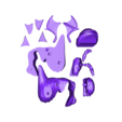 DragMono.STL Download free STL file Dragon bicolor • 3D printer model, proteine