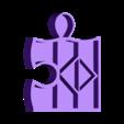 puzzle new 4 sans accroche.stl Download STL file PUZZLE SHELVES • 3D print model, catf3d