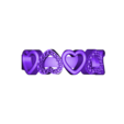 HERT ST.stl Download STL file 3D CAD Model For Beautiful Multi Heart Design Ring • 3D printer model, VR3D