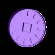 Mold_Cavity.stl Download free STL file DIY Concrete Clock (3D printed mold) • 3D printing design, Adylinn