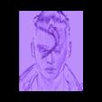johnny_depp.stl Télécharger fichier STL gratuit dessin Johnny Depp • Design pour imprimante 3D, 3dlito