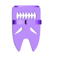 Toothy.stl Download free STL file Toothy - Toothbrush Holder • 3D printable design, EUMAKERS