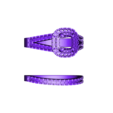 RG25806.stl Download STL file Jewelry 3D Cad Model Of Beautiful Bridal Ring Set • Template to 3D print, VR3D