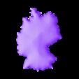 Alemania liso escala cortado.stl Download free STL file 3D map, puzzle geography • 3D print design, FORMAT3D