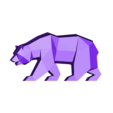 Low Poly California Grizzly.STL Descargar archivo STL Low Poly California Grizzly y Nueva República de California • Modelo para la impresora 3D, biglildesign