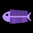 fish bone comb.stl Download STL file Fish Bone • Template to 3D print, delukart