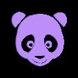 PANDA COEUR BLANC 2.stl Download STL file panda hearts decoration • 3D printer template, catf3d
