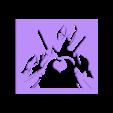 Deadpool - heart.stl Download STL file Deadpool - Stencil - Heart • 3D printable design, Made_In_Space