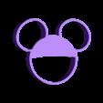 mickey.STL Download free STL file Cookie Cutter Mickey • 3D printing design, Platridi