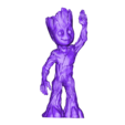 BABY_GROOT_FULL_051517.obj Download OBJ file LIL BABY GROOT • 3D print template, Masterclip