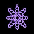 Makies_Heart_SnowFlake_Decoration.STL Download free STL file Tons of Hearts Snowflake Decoration • 3D printer design, D5Toys