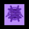 metallica_keychain.stl Télécharger fichier STL gratuit porte-clés metaliica • Objet imprimable en 3D, 3dlito