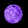 Lion30_.stl Download free STL file Lion Medallion • 3D printer template, LYTEHAUS