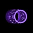"""Cylindre_languette.stl Download STL file Home Sweet Home"""" candle jar • 3D print model, chris_soleil"""