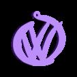 volwgagen_keychain.stl Télécharger fichier STL gratuit le meilleur porte-clés volkswagen • Design imprimable en 3D, facuu