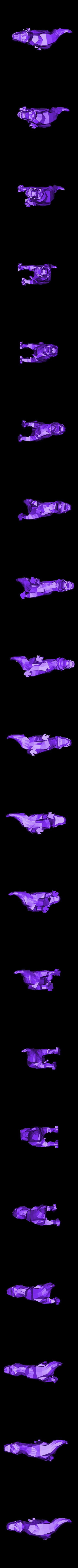 t-rex2.stl Download STL file Low-poly t-rex • 3D printer template, WONGLK519