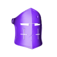 Helm_Mask_Damaged_with_Hook.stl Download free STL file For Honor Warden Helm - Knight • 3D print template, VillainousPropShop