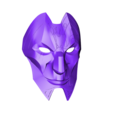 Jhin_Mask_v2.stl Download free STL file Jhin Mask (League of Legends) • 3D printing template, VillainousPropShop