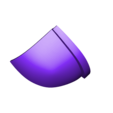 Part_8_v3.stl Download free STL file Blood Dragon Helmet Mass Effect 2 • Design to 3D print, VillainousPropShop