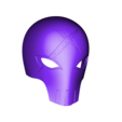 Red_X_Mask_v1.stl Download free STL file Red X Mask Teen Titans • 3D printable object, VillainousPropShop