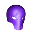 Red_X_Mask_with_strap_holes_v1.stl Download free STL file Red X Mask Teen Titans • 3D printable object, VillainousPropShop