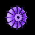 HélicePompe110CNAvecRayons.stl Download STL file Propeller Electric motor • 3D print design, joe-790