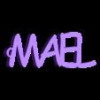 3d.stl Télécharger fichier STL gratuit PORTE-CLEF PERSONALISABLE MAEL • Design pour impression 3D, Ibarakel