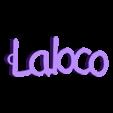 3D.stl Télécharger fichier STL gratuit porte clef personnalisable LA LOCO • Modèle pour impression 3D, Ibarakel