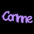 3D.stl Télécharger fichier STL gratuit porte clef personnalisable  CORINNE • Design pour impression 3D, Ibarakel