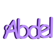 3D.stl Download free STL file keychain customizable Abdel • 3D printable object, Ibarakel