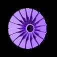 Impeller-HP02.stl Download free STL file Turboprop Engine • 3D printable model, konchan77