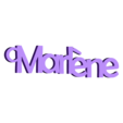 3D.stl Download free STL file PERSONALIZABLE KEYCHAINS Marlene • Template to 3D print, Ibarakel
