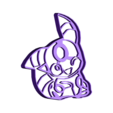 Noctali chibi.stl Download free STL file Pokemon go Cookies cutter • Object to 3D print, AmineZed