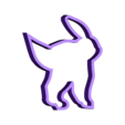 noctali piece2.stl Download free STL file Pokemon go Cookies cutter • Object to 3D print, AmineZed
