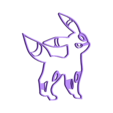 noctali piece1.stl Download free STL file Pokemon go Cookies cutter • Object to 3D print, AmineZed