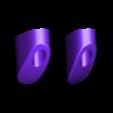 MM_Kirby_Black.stl Télécharger fichier STL gratuit Multicolore Kirby! [4 couleurs] • Objet à imprimer en 3D, ChaosCoreTech