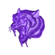 wolfhead5.stl Download free OBJ file eight models of wolf heads  • 3D printable model, stlfilesfree