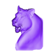 leopard_head.obj Télécharger fichier OBJ gratuit modèle bas-relief de tête de léopard • Modèle pour impression 3D, stlfilesfree