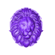 lion_headB.stl Download free STL file lion head bas-relief model for cnc • 3D printer design, stlfilesfree
