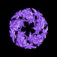 flowers.obj Télécharger fichier OBJ gratuit modèle 3d de modèle floral de bas-relief pour cnc • Design pour imprimante 3D, stlfilesfree