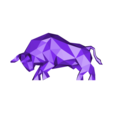 Low Poly Bull 3DP Solid.obj Download OBJ file Low Poly Bull • Design to 3D print, FORMBYTE