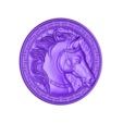 HorseHead.stl Download free STL file horse head pendant • 3D printing object, stlfilesfree