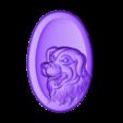 OneDogHead.stl Download free STL file dog head pendant • 3D printer design, stlfilesfree