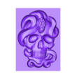 skullAndSnakeA.stl Download free STL file skull model of bas-relief • Object to 3D print, stlfilesfree