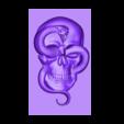 skullAndSnakeB.stl Télécharger fichier STL gratuit modèle de crâne et de serpent de bas-relief • Plan pour impression 3D, stlfilesfree